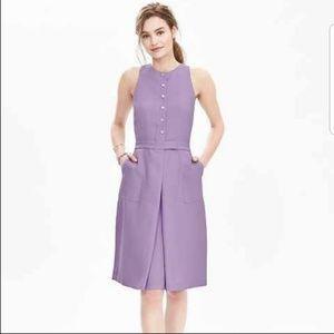 Banana Republic Lavender Button-down Crepe Dress